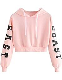 Btruely Hoodie Pullover Damen Herbst Mode Hooded Sweatshirt Mädchen Pullover 79ef416fc0