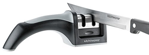 Easy Messerschärfer 2Stage Professional Messerschärfer System, schärft beide Stahl & Keramik Messer alle Größen; Verwendung überall wie eine Home Küche, gewerblichen Küchen–von 'Brosche Kitch N' - Butcher Professional Knife