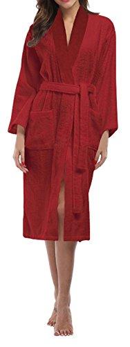 SKYLINEWEARS Women's Shawl Collar 100% Terry Cotton Bathrobe Toweling Robe