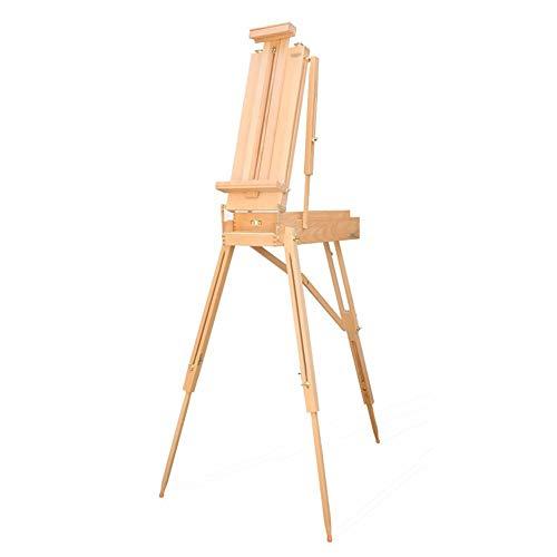 Caballete de dibujo profesional de madera maciza. Para pintar y hacer bocetos al aire libre