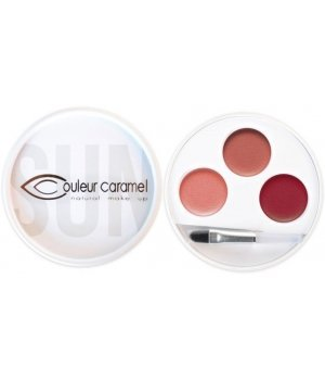 Couleur Caramel - Palette 3 rouges à lèvres Massai n°32 Bio - Série limitée