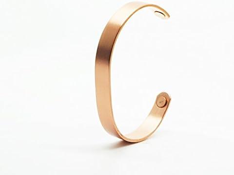 Armband Kupfer Bürste magnetisch mit Magneten–Für Damen und Herren. Größe Grande (16,5cm) für Handgelenk 17,7cm.