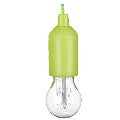 Renile Tragbare LED-Lampe an einem Seil Leselampe, batteriebetrieben, Zugschnur grün -