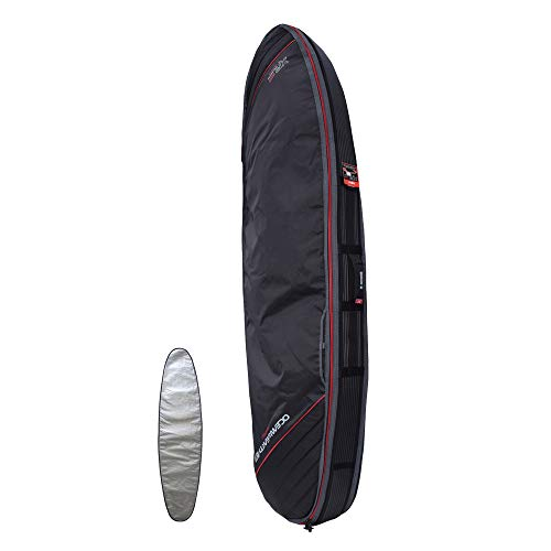Ocean and Earth Double Compact Fish Cover Surfboard Bag 6ft4 Black
