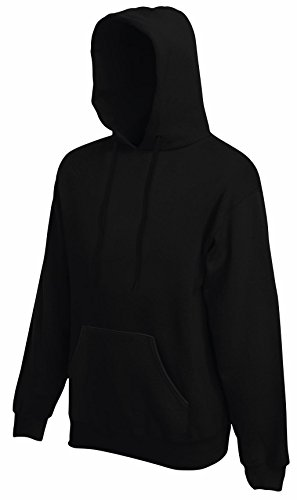 Fruit of the Loom Herren Kapuzenpullover Hooded Sweat Black