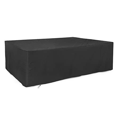 Dokon Abdeckung für Gartenmöbel 420D Oxford-Gewebe Gartentisch Schutzhülle, Rechteckig (213x132x72cm) - Schwarz