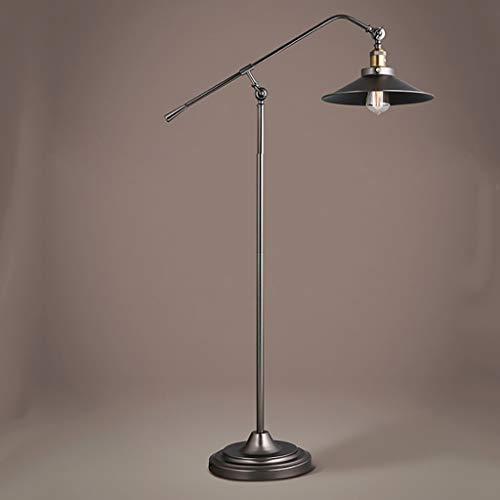 Pipe à eau industrielle vent village américain Loft salon chambre livre livre lampe Lampe sur pied de salon (Couleur : NOIR)