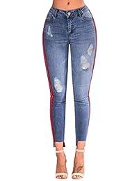 5f008c6808af6 Elodiey Jeans Dames Skinny Jeans Pantalon Dames Taille Haute Les Femmes  Stretch 20 Ans Taille Haute Stretch Crayon Crayon Pantalon Pantalon en…