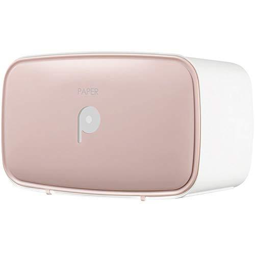 ZYJ Toilettenpapierspender, Papierhandtuchhalter Tissue Holder Toilettenpapierspender Free Punching Toilettenpapierrolle Handtuchhalter,Pink