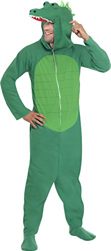 dil Kostüm, All-in-One mit Kapuze, Größe: M, 23631 (Krokodil-kostüm)