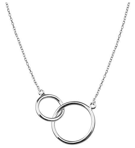 SOFIA MILANI Damen Halskette Kreise Ring Anhänger Silber 50012