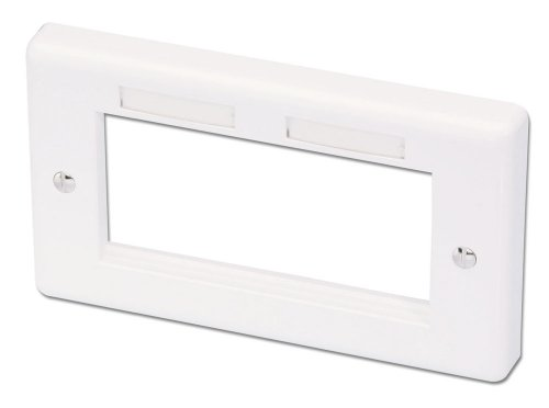 LINDY Wand-Doppeldose 146x86mm UK für 4 Snap-In-Module und AV-Extender - 4-port-snap