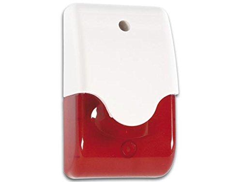 Velleman SV/PSL3R SVPSL3R Alarm-Signalgeber rot optisch + akustisch, Weiß