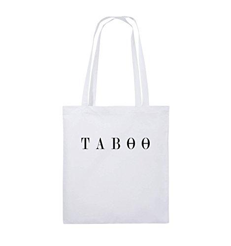 Comedy Bags - TABOO - LOGO - Jutebeutel - lange Henkel - 38x42cm - Farbe: Schwarz / Pink Weiss / Schwarz