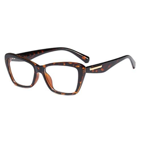 Yefree Mode Retro Weibliche Nerd Brille Platz Großen Rahmen Große Transparente Linse Lesen Alten Spiegelrahmen Gläser