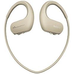 Sony Walkman NW-WS413 - Lecteur MP3 Intégré à des Ecouteurs - Etanche - 4 Go - Ivoire