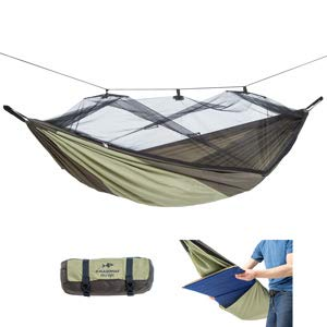 AMAZONAS Ultra-Light Hängematte Moskito Traveller THERMO 650g 275cm x 140cm bis 200kg in Grün