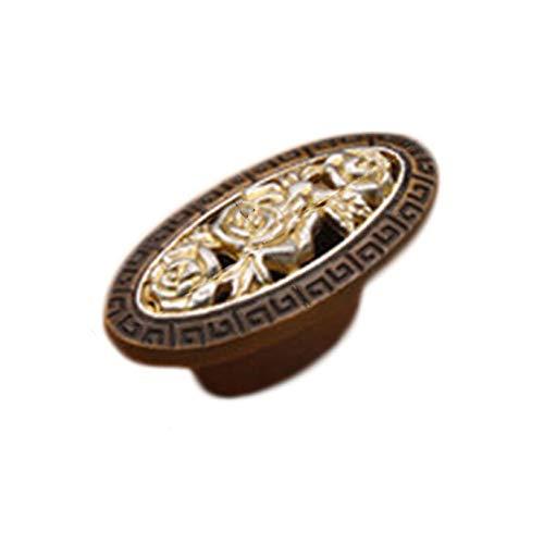 xianhuzhenzhen Griffknauf für Küchenschrank, Schrank, Tür, Schublade, geschnitzt, für Dekoration zu Hause (Keine Farben) Spinner Knob
