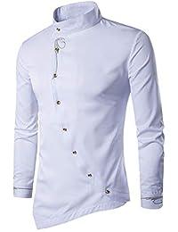semen Herren Hemd Langarm Shirt Hemd Bügelleicht Slim Fit für Freizeit  Business Hochzeit d4130f19c4