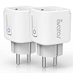 Wifi smart socket, Alexa Smart Plug Avatar Controls Smart Home sockets work with Google Home, ONLY 2.4 GHz network (2 pack)