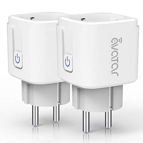 WLAN Smart Steckdose Intelligente Plug Avatar Controls Wifi Alexa Stecker funktionieren mit Amazon Alexa, Google Home und IFTTT, Unterstützung Fernbedienung (2er Pack)