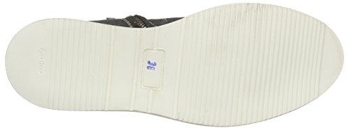 Shabbies Amsterdam 12cm Zipboot White Vintage Sole Adile, Bottes Classics courtes, non doublées Femme Gris (Antracite)