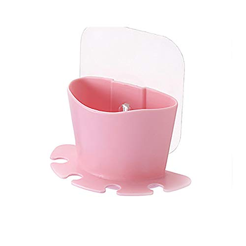 vijTIAN Aufbewahrungsbox für Zahnbürsten, zum Aufhängen, waschbar, langlebig und einfach anzubringen Rose (Duale Elektronische Zahnbürste)
