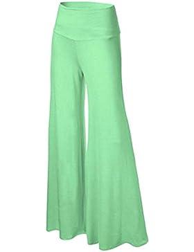 Mujer Pantalones Palazzo Fashion Unicolor Cintura Alta Pantalones Baggy Primavera Otoño Elegantes Cintura Alta...