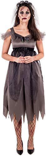 Fancy Me Damen Dead Jilted Corpse Bride Friedhof Halloween Horror Kostüm Kleid Outfit Übergröße UK 8-26 - Schwarz, UK 20-22