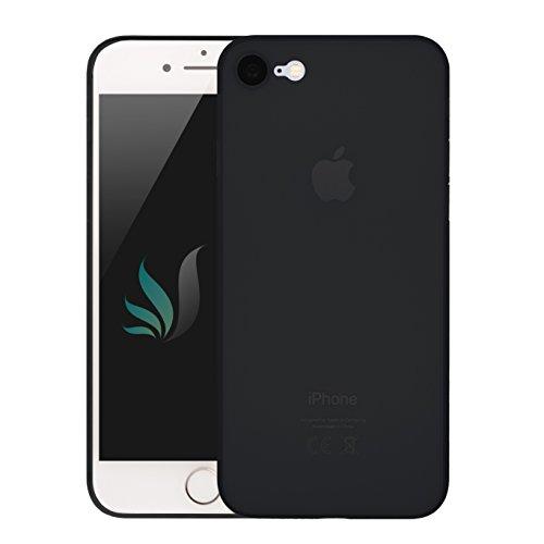 IPhone 8 / IPhone 7 Design Hülle Matt Schwarz [transparent] i-Spring 0.35mm höchste Qualität Ultra dünn Passt perfekt Handy Schutzhülle Bumper Case 4.7 Zoll (Schwarz Transparent)
