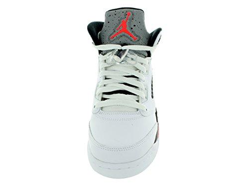 Nike Air Jordan 5 Retro Bg, Chaussures de Sport Garçon, Blanc, For Men blanc infrarouge 23 clair poison vert black 115