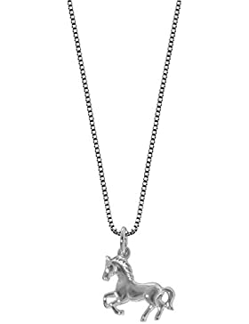 trendor Kinder-Halskette mit Pferde-Anhänger Silber 63690