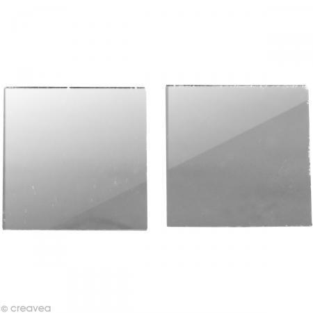 Rayher - 14547606 - Spiegelmosaik, selbstklebend., 2x2cm, SB-Btl 50Stü - 2 X 2 Mosaik