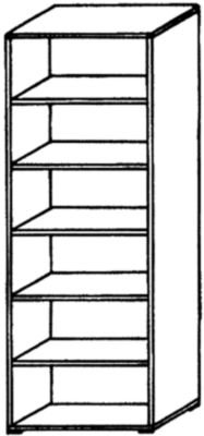 VERA Büroregal - 5 Fachböden, 800 mm breit - lichtgrau - Aktenregal Büroregal Holzregal Holzregale Ordnerregal VALERIE VALERIE Büromöbelprogramm Regalwand