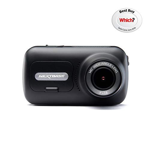 Nextbase 322GW - Dash Cam, Car Dash Camera - Full 1080p/30fps HD Recording DVR Cam - Front and Rear Recording Modules - 140° Wide Viewing Angle - Wi-Fi & Bluetooth - GPS - SOS Emergency - Black Logo