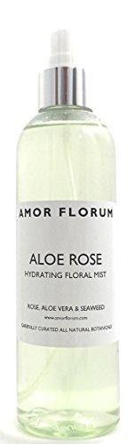 ACQUA IDRATANTE con ALOE VERA & ROSA - 250ml - di AMOR FLORUM. Spray naturale, idratante e lenitivo per viso, corpo e capelli. Senza profumo aggiunto.