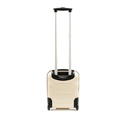WITTCHEN Reisekoffer Trolley 17 Koffer Bordgepäck Handgepäck, 42x32x25 cm, Weiß, 25 Liter, Größe: klein, XS, Bordgepäck, Handgepäck, ABS, 56-3A-281-88 - 3