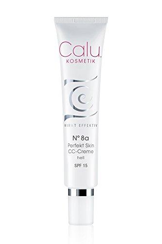 Getönte Tagescreme Calu N°8a Perfekt Skin CC-Creme hell 40ml mit Hyaluronsäure Lichtschutzfaktor und Anti-Aging Effekt