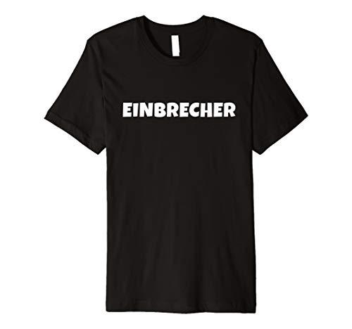 Alle Einbrecher Schwarz Kostüm - Einbrecher Kostüm T-Shirt