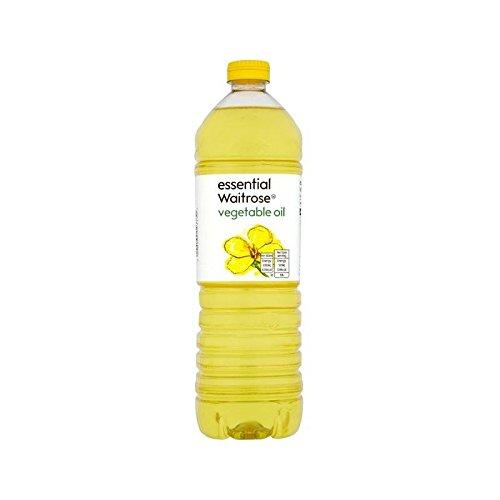 Huile Végétale 1L Waitrose Essentiel - Paquet de 4