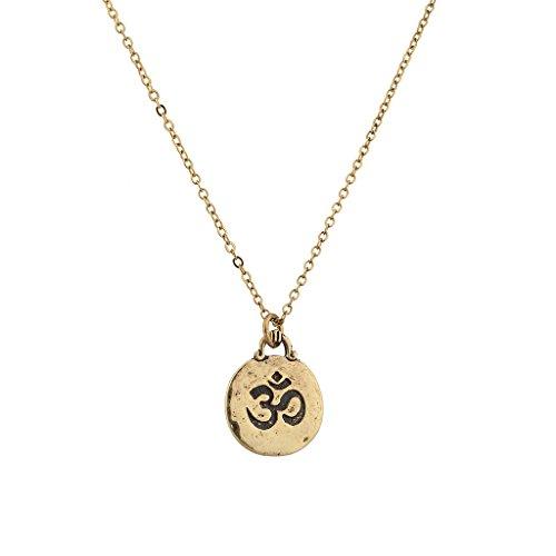 Lux Accessories Lux Zubehör Hinduismus Symbol Aum Om Pratima Nikolajewitsch Atman Brahman Soul Selbst Innerhalb Anhänger Halskette