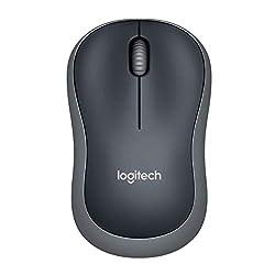 Logitech M185 Kabellose Maus, 2.4 GHz Verbindung via Nano-USB-Empfänger, 1000 DPI Optischer Sensor, 12-Monate Akkulaufzeit, Für Links- und Rechtshänder, PC/Mac - grau