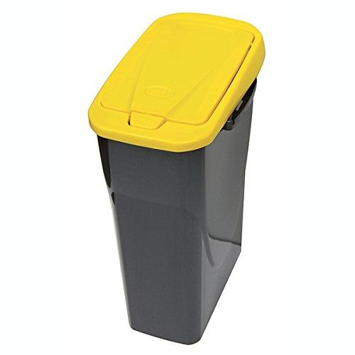 Mondex Müllsortierer 25 Liter mit gelbem Deckel