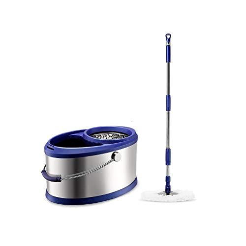 Mop Rotante a Doppia Frizione in Acciaio Inox con Rotazione a 360 °, con Due mop