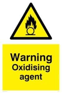 agent oxydant-Panneau d'avertissement