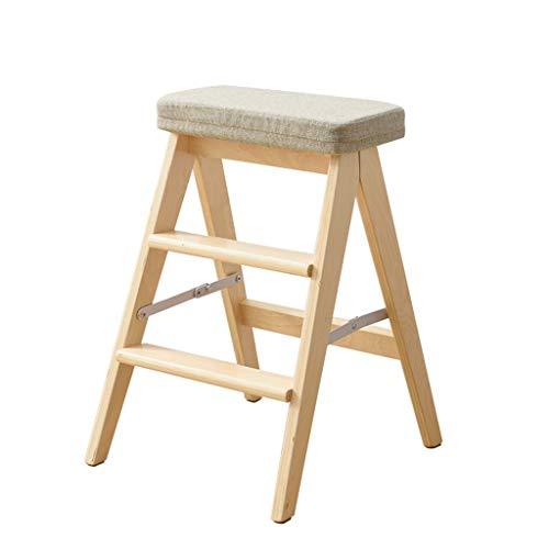 Ibuprofen Hocker Stuhl Sitz Schuhbank Hocker aus Holz 3-Stufig Niedriger Hocker Erwachsener Sofa Hocker Ändern Schuhe Hocker Klettern Fuß Hocker, Gray -