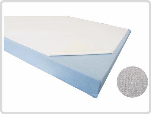 Bettschutzeinlage Matratzenauflage Molton, 50x90 cm, weiß