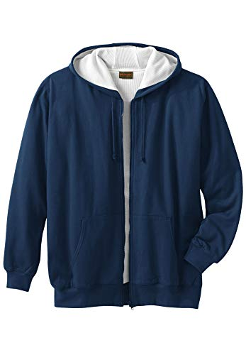 Boulder Creek Herren Big & Tall Full Zip Thermo-Kapuzenpullover - Blau - Hoch-XXX-Large -