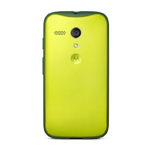 Motorola Grip Shell for Moto G - Retail Packaging - Lemon Lime + Dark TPU