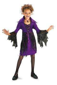 Kostüm Sorceress Gothic Hexe Zauberin Vampirin Größe L für Kinder von 8 bis 10 (Kostüme Gothic Vampirin Kind)